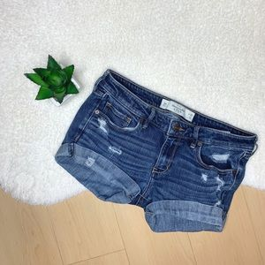 🌻Abercrombie the A&F Skinny Distressed Cuff Short